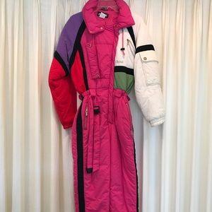 Mistral Ski Snow Suit One Piece Color Block Vtg